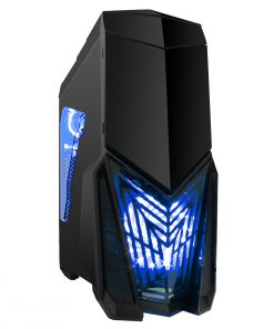Game Max Destroyer Gaming PC Case with 3 x 12cm 15 Blue LED fans & 1 x 12cm 4 LED