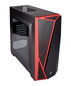 Corsair SPEC-04 Midi Tower Gaming Case - Black/Red (CC-9011107-WW)
