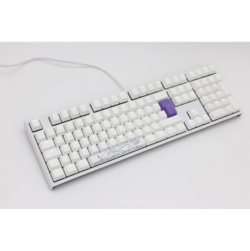 Ducky One2 White Edition Mechanical Keyboard Cherry MX Red - White LED