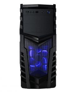 CiT Defender Black Interior 500W 12cm Black Psu 12cm Blue LED Fan