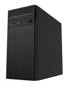 CiT Black Steel Micro Atx Case With Card Reader No Power Supply