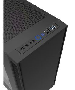 Game Max Obsidian PC Gaming Case Black with USB 3.0