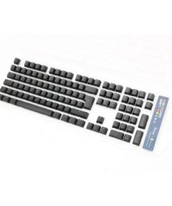 PBT BACKLIT KEYCAPS FOR CHERRY MX SWITCHES UK ISO QWERTY - BLACK