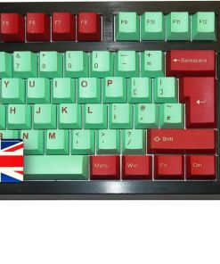 Tai-Hao ABS Double Shot Keycaps Juke Box Cubic Mint Red UK Layout