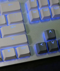 Tai-Hao TPR Rubber Backlit Double Shot 18 Keys - Grey