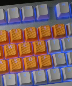 Tai-Hao TPR Rubber Backlit Double Shot 18 Keys - Neon Orange