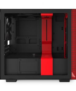 NZXT Black/Red H210 Mini ITX Windowed PC Gaming Case
