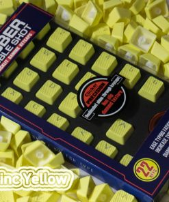 Tai-Hao Rubber Gaming Backlit Keycaps-22 keys Neon Zinc Yellow