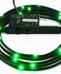 NZXT Green Sleeved LED Kit with PCI Light Sensivity Card 200cm