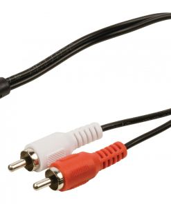 Stereo Audio Cable 2x RCA Male - 3.5 mm Female 0.20 m Black