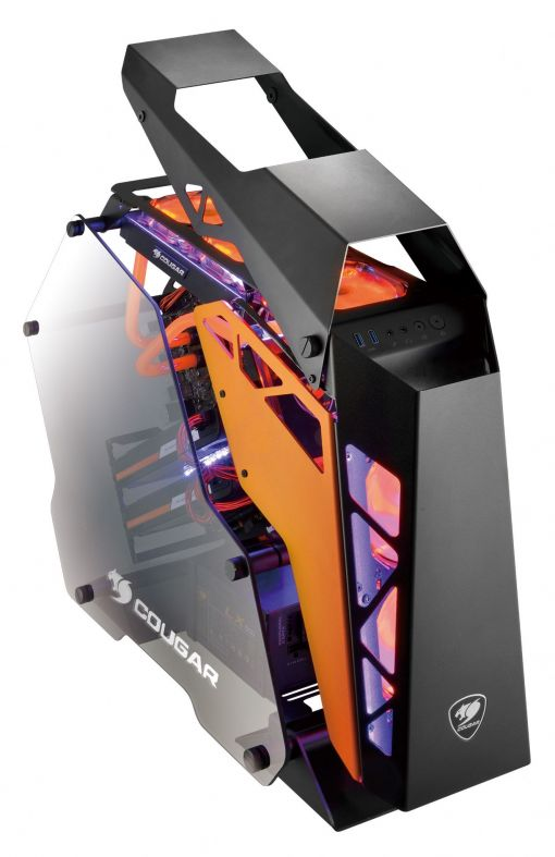 Cougar Conquer Mid Tower Gaming Case Open Frame Chasis Tempered Glass