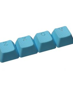 Tai-Hao ZXCV Rubber Backlit Double Shot Keys Neon Blue