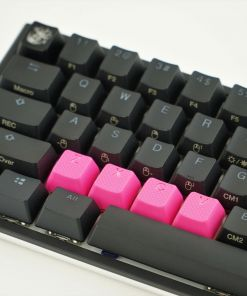 Tai-Hao ZXCV Rubber Backlit Double Shot Keys Neon Pink