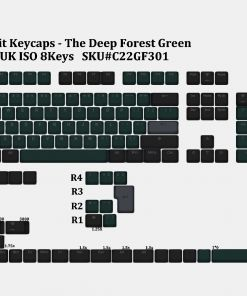 Tai-Hao Deep Forest Green Double Shot PBT Backlit Keycaps
