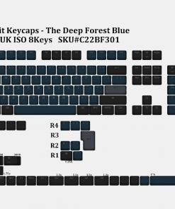 Tai-Hao Deep Forest Blue Double Shot PBT Backlit Keycaps