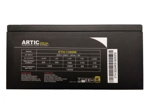 Artic Gold 1300W 92% Efficient Power Supply