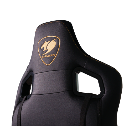 Cougar Armor S Royal Gaming Chair Black with Gold Stitching