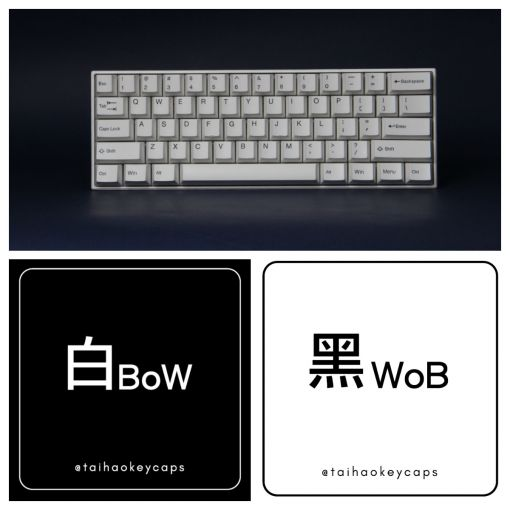 TAI-HAO CUBIC ABS BOW KEYCAP SET