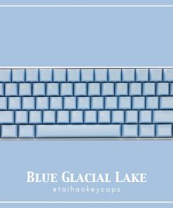 Tai-Hao Cubic Blue Glacial Lake ABS Double Shot Keycaps