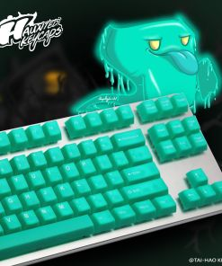 Tai-Hao Translucent Jelly Jade ABS Double Shot Cubic Keycaps