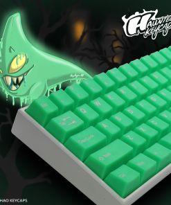 ai-Hao Translucent Slime Sprout ABS Double Shot Cubic Keycaps
